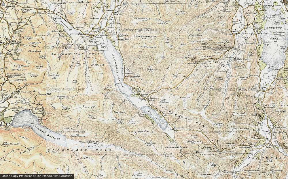 Old Map of Historic Map covering Ling Comb in 1901-1904