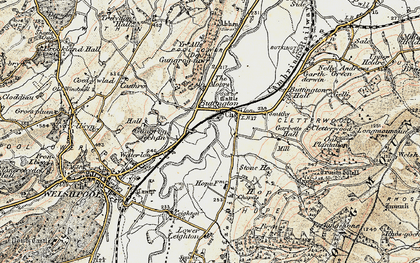 Old map of Buttington in 1902-1903