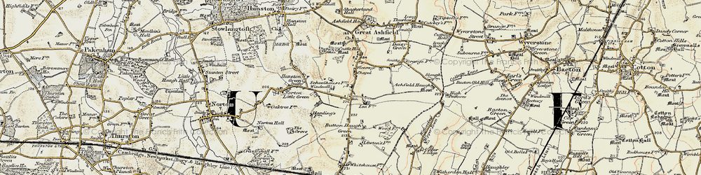Old map of White Gates in 1901