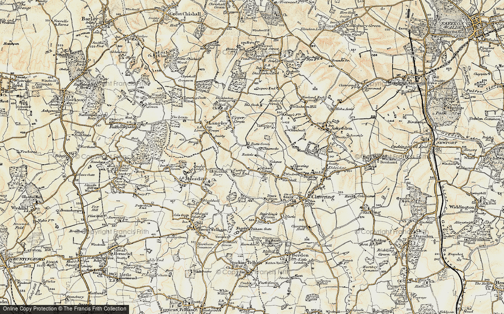 Old Map of Historic Map covering Thurrocks in 1898-1899