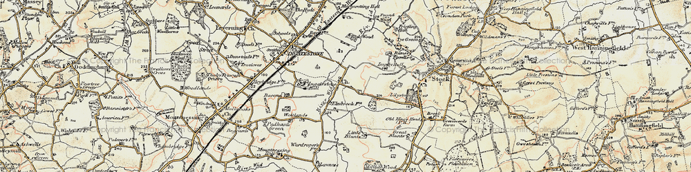 Old map of Tilehurst in 1898