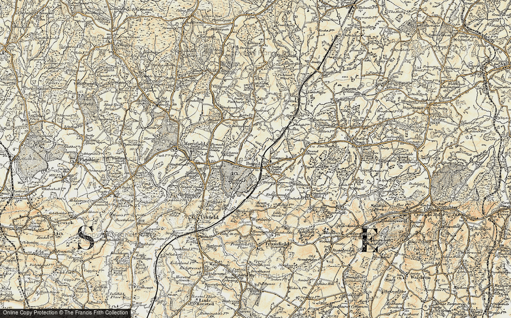 Old Map of Buxted, 1898 in 1898