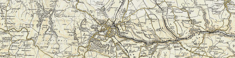Old map of Buxton in 1902-1903