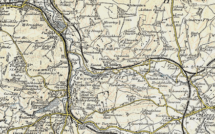 Old map of Buxworth in 1902-1903
