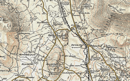 Old map of Y Foel in 1903