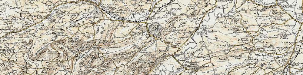 Old map of Allt y Main in 1902-1903