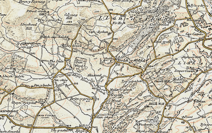 Old map of Bwlch-y-ffridd in 1902-1903