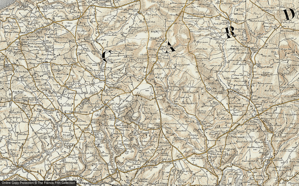 Old Map of Historic Map covering Bargoed in 1901