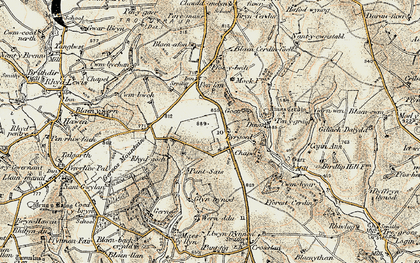 Old map of Bargoed in 1901