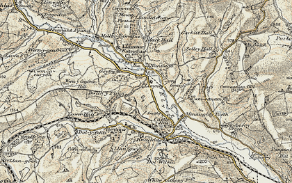 Old map of Bwlch-y-Plain in 1901-1903