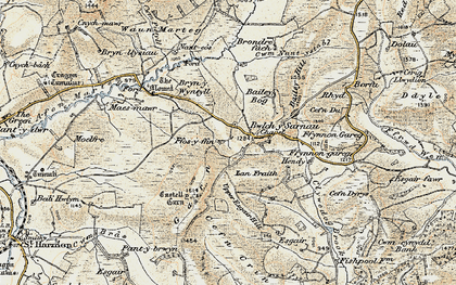 Old map of Bailey Bog in 1901-1903