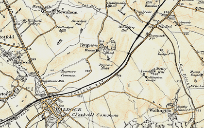 Old map of Bygrave in 1898-1901