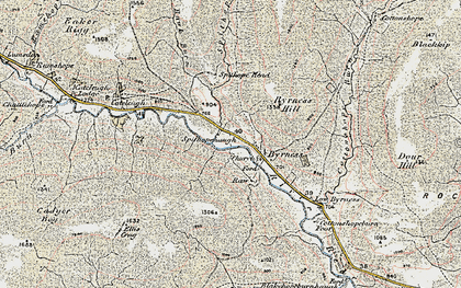 Old map of Windy Crag in 1901-1904