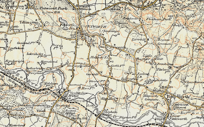 Old map of Byworth in 1897-1900