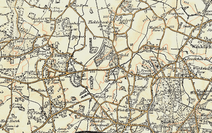 Old map of Cabbage Hill in 1897-1909