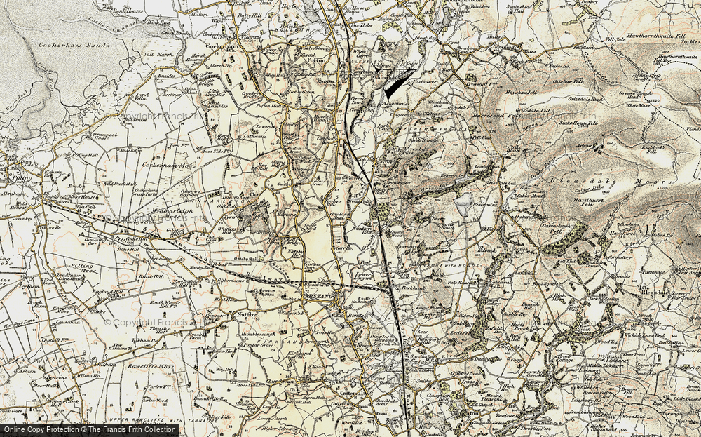 Old Map of Historic Map covering Lingart in 1903-1904