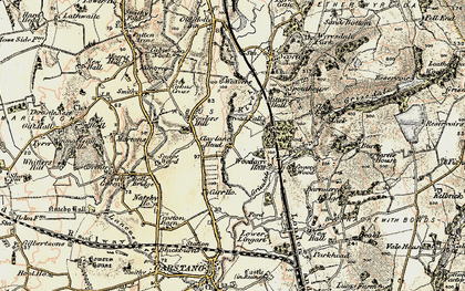 Old map of Lingart in 1903-1904