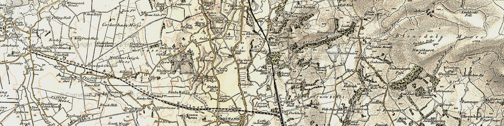 Old map of Woodacre Hall in 1903-1904
