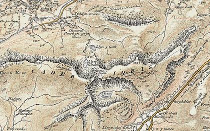 Old map of Cadair Idris in 1902-1903