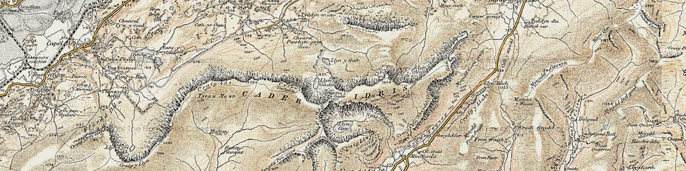 Old map of Cader Idris in 1902-1903