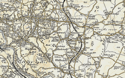 Old map of Cadbury Heath in 1899