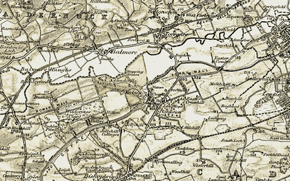 Old map of Cadder in 1904-1905