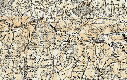 Old map of Cade Street in 1898