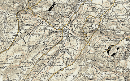Old map of Tir Mostyn in 1902-1903