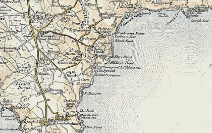 Old map of Cadgwith in 1900