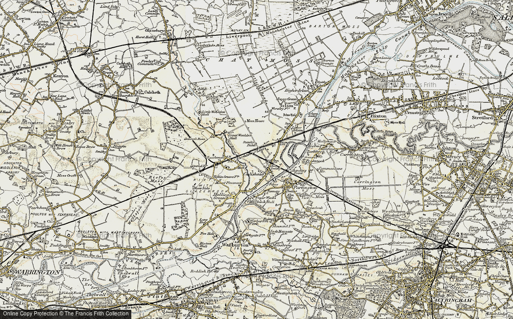 Old Map of Cadishead, 1903 in 1903