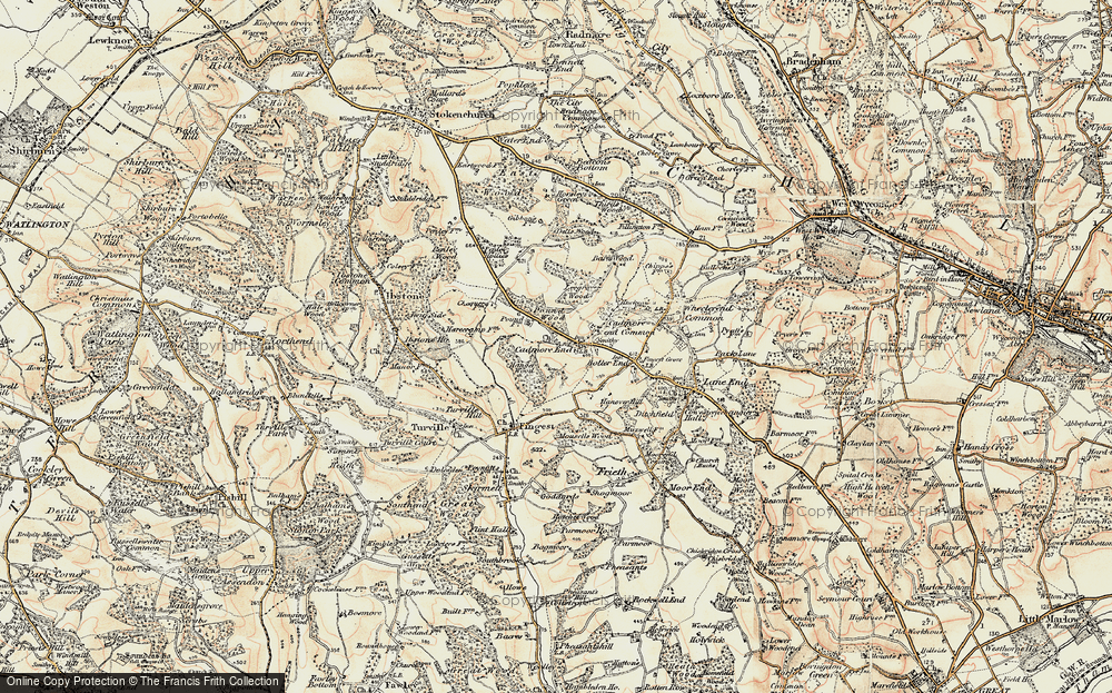 Old Map of Historic Map covering Leygrove's Wood in 1897-1898