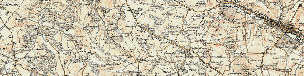 Old map of Leygrove's Wood in 1897-1898