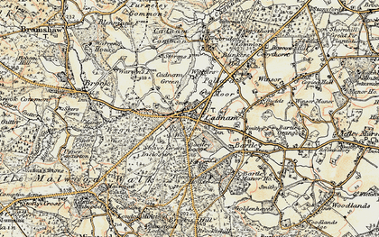 Old map of Cadnam in 1897-1909