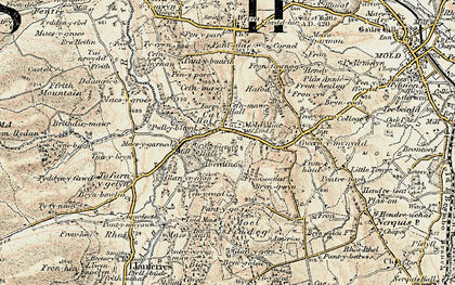 Old map of Cadole in 1902-1903