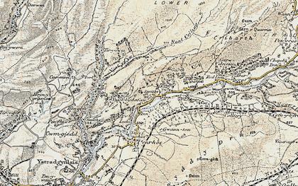 Old map of Cae'r-Lan in 1900-1901
