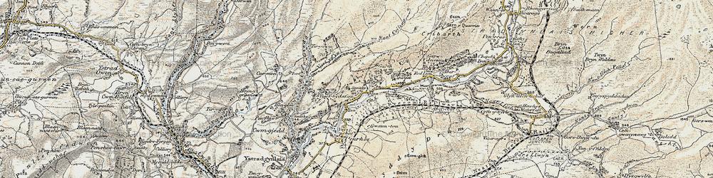 Old map of Tir-y-cwm in 1900-1901