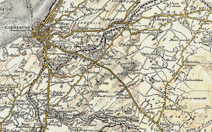 Old map of Ysbytty in 1903-1910