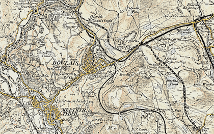 Old map of Caeharris in 1900