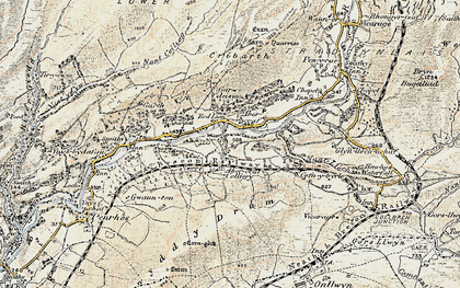 Old map of Caehopkin in 1900-1901
