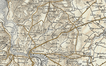 Old map of Banc-y-Warren in 1901