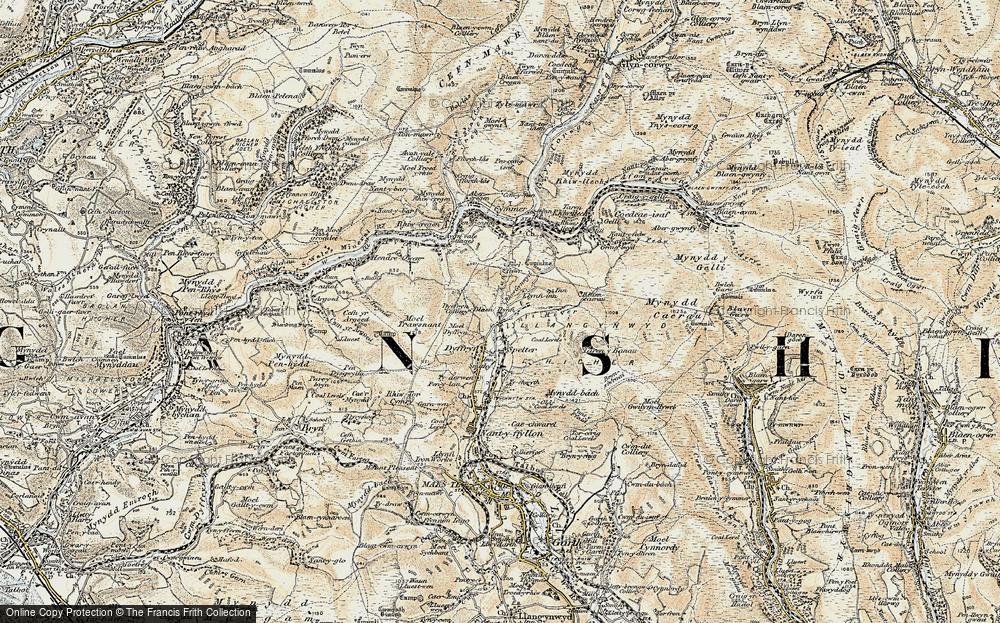Old Map of Caerau, 1900-1901 in 1900-1901
