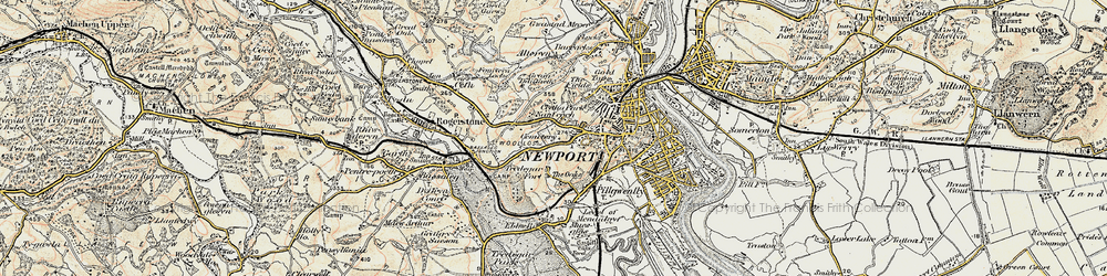 Old map of Caerau Park in 1899-1900