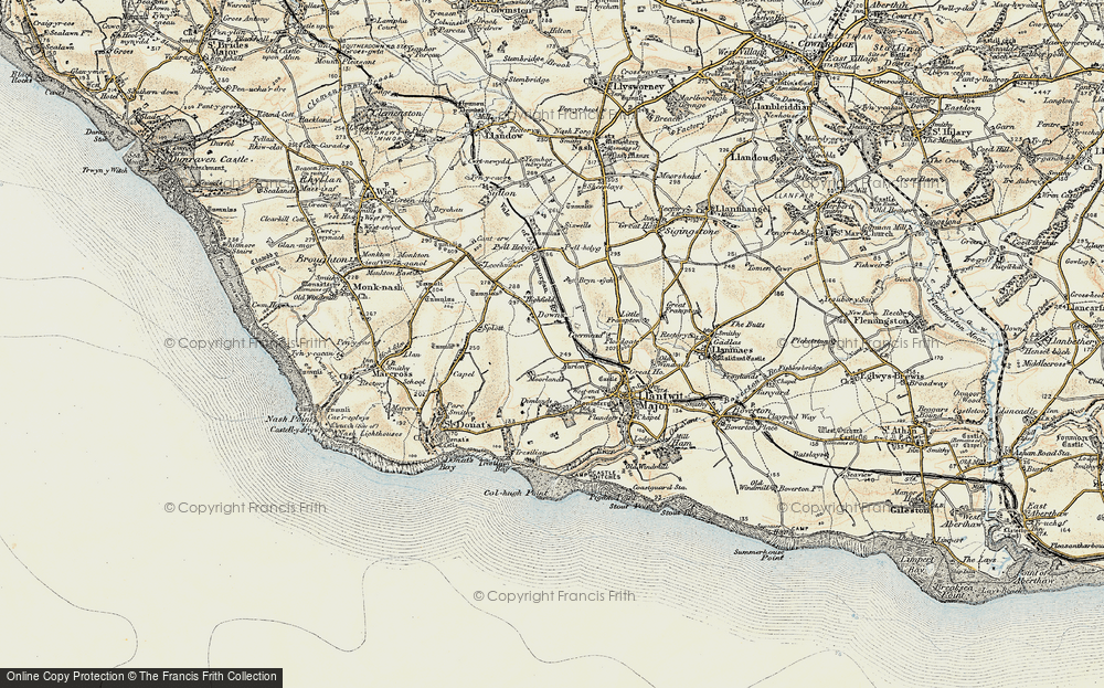 Old Map of Caermead, 1899-1900 in 1899-1900