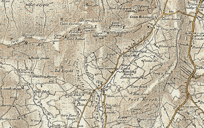 Old map of Afon Tewgyll in 1901
