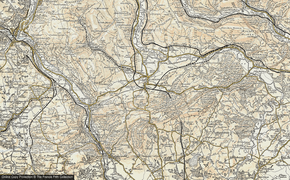 Old Map of Caerphilly, 1899-1900 in 1899-1900