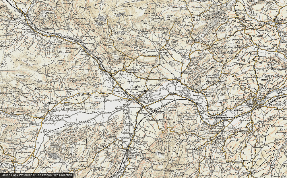 Old Map of Caersws, 1902-1903 in 1902-1903