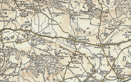 Old map of Caerwent in 1899-1900
