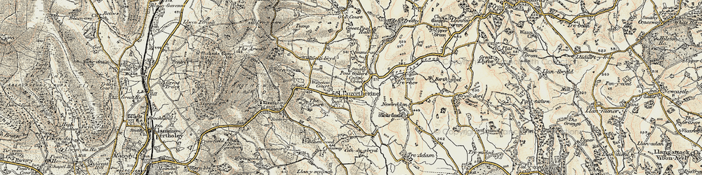 Old map of Winston Court in 1899-1900