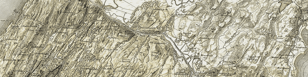 Old map of Achnabreck in 1906-1907