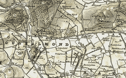 Old map of West Wood in 1908-1910